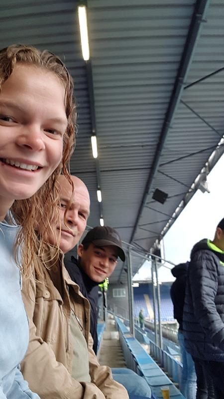 Daphne, Nevin en Jaap Zonnevijlle bij Pec Zwolle